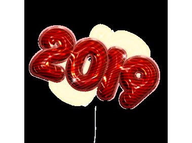 2019 Balloon Text,