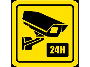 24 Hour Video Camera Sign