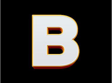3D Letter B