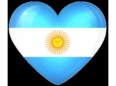 Argentina Large Heart Flag