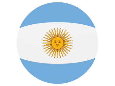 Argentina Round Flag