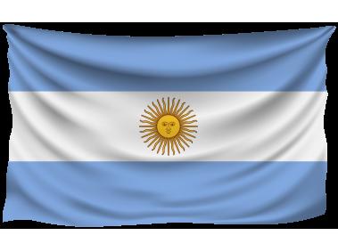 Argentina Wrinkled Flag