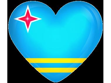 Aruba Large Heart Flag