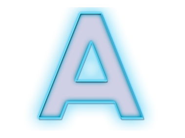 Blue Neon Letter A