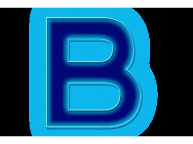 Blue Neon Letter B