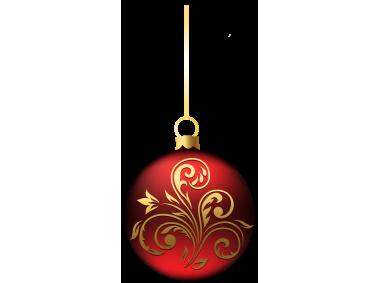 Blue Red Christmas Ball