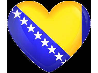 Bosnia and Herzegovina Large Heart Flag
