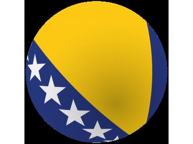 Bosnia and Herzegovina Round Flag