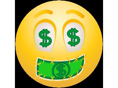 Dollar Face Emoticon