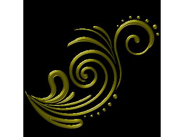 Golden Floral Decor