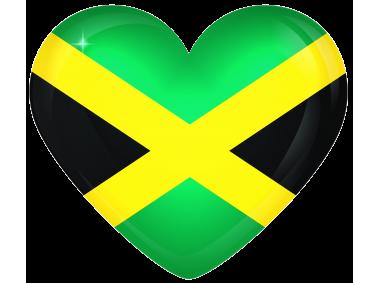 Jamaica Large Heart Flag