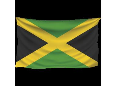 Jamaica Wrinkled Flag