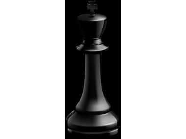 King Black Chess Piece