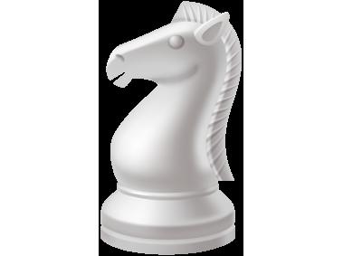 Knight White Chess Piece