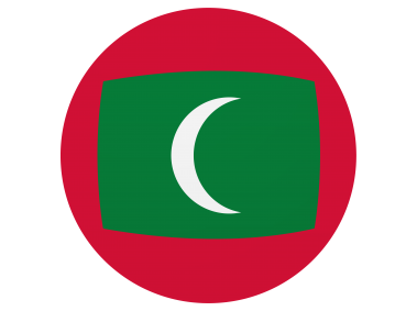 Maldives Round Flag Icon
