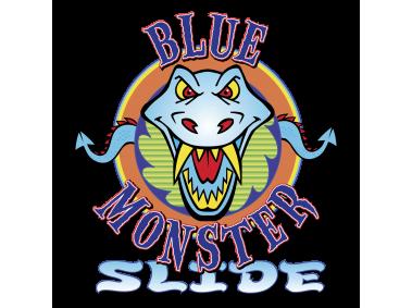 Blue Monster Slide Logo