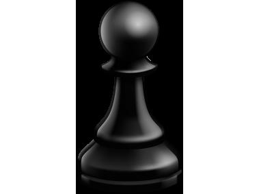 Pawn Black Chess Piece
