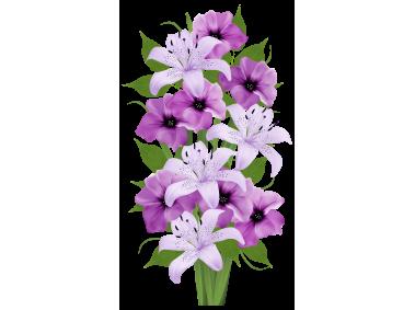 Purple Decorative Bouquet