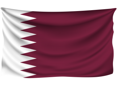 Qatar Wrinkled Flag