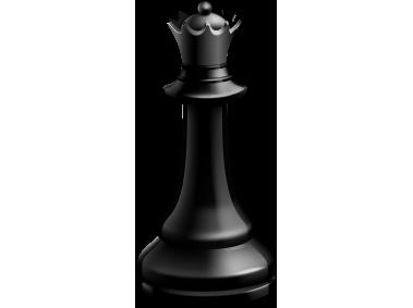 Queen Black Chess Piece