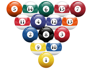 Racked Billiard Pool Balls