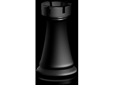 Rook Black Chess Piece