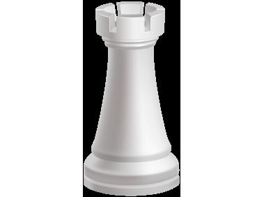 Rook White Chess Piece