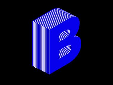 Sandwich 3D Text B Letter