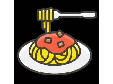Spaghetti Pasta Emoji Icon