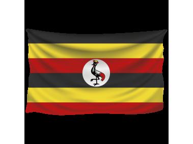Uganda Wrinkled Flag