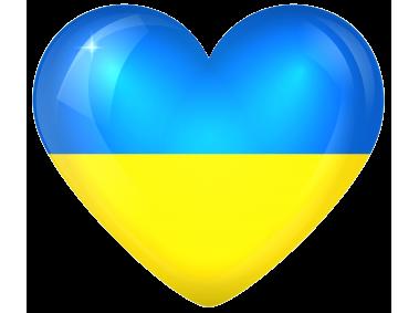 Ukraine Large Heart Flag