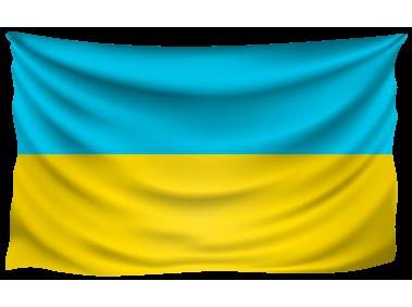 Ukraine Wrinkled Flag