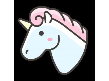 Unicorn Face Emoji Icon