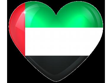 United Arab Emirates Large Heart Fla