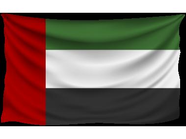 United Arab Emirates Wrinkled Flag