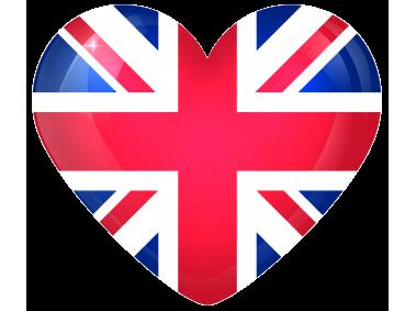 United Kingdom Large Heart Flag