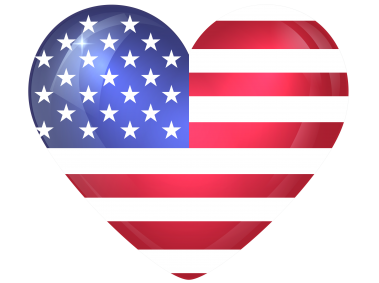 United States Large Heart Flag