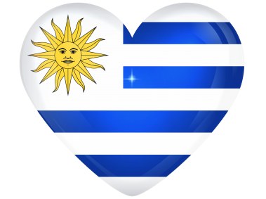 Uruguay Large Heart Flag