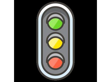 Vertical Traffic Light Emoji Icon