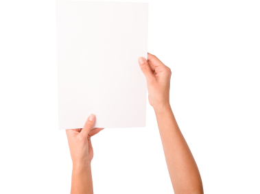 Woman Hand Holding Paper