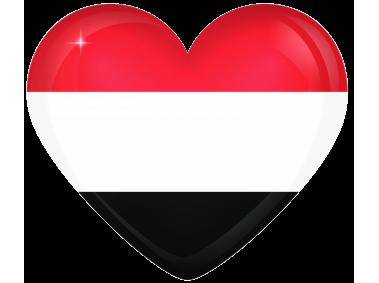 Yemen Large Heart Flag