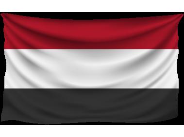 Yemen Wrinkled Flag