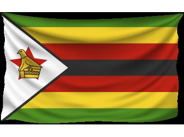 Zimbabwe Wrinkled Flag
